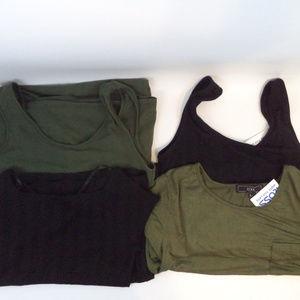 Lot of 4 T-Shirt & Tank Dresses size L 0918